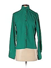 Ellen Tracy Women Long Sleeve Button-Down Shirt Size 7/8