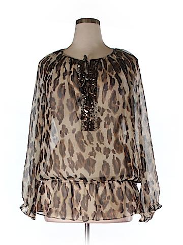 S.L.B. Long Sleeve Blouse Size 1X (Plus)