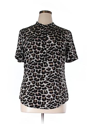 Ann Taylor Short Sleeve Silk Top Size 14