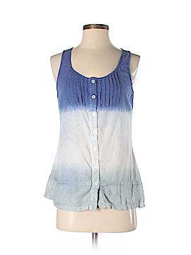 Nicolette Sleeveless Button-Down Shirt Size S
