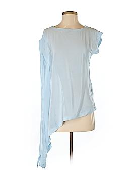 Karen Millen Short Sleeve Silk Top Size Sm (2)