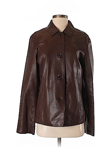 J.jill Leather Jacket Size S (Tall)