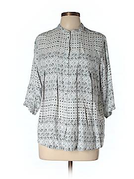 Carmakoma 3/4 Sleeve Button-Down Shirt Size 12 Plus (XS) (Plus)
