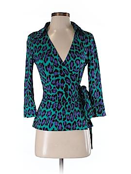 Diane von Furstenberg 3/4 Sleeve Silk Top Size 5