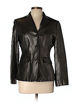 Jones New York Leather Jacket Size 12 (Petite)
