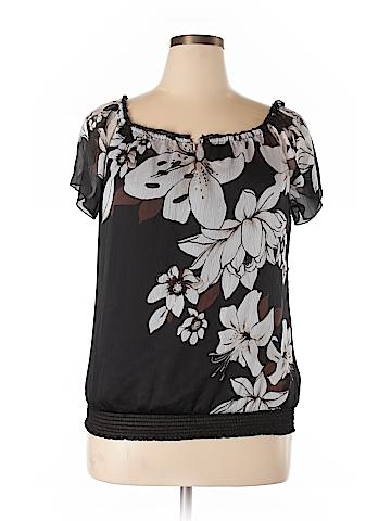 White House Black Market Short Sleeve Blouse Size XL