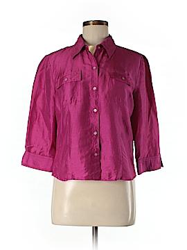 Spenser Jeremy Short Sleeve Silk Top Size M