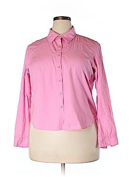 Susan Bristol Long Sleeve Button-Down Shirt Size XL