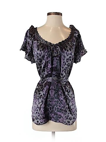 Rebecca Taylor Short Sleeve Silk Top Size 4