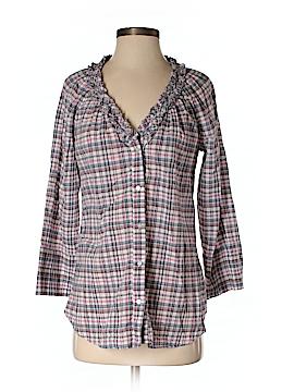 Ella Moss 3/4 Sleeve Button-Down Shirt Size XS