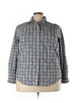 Cabin Creek Long Sleeve Button-Down Shirt Size 22 (Plus)