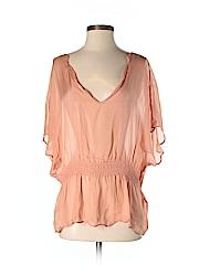 DKNY Women Short Sleeve Silk Top Size P