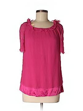 Cynthia Cynthia Steffe Short Sleeve Silk Top Size M