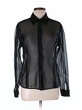 J. McLaughlin Long Sleeve Silk Top Size 12