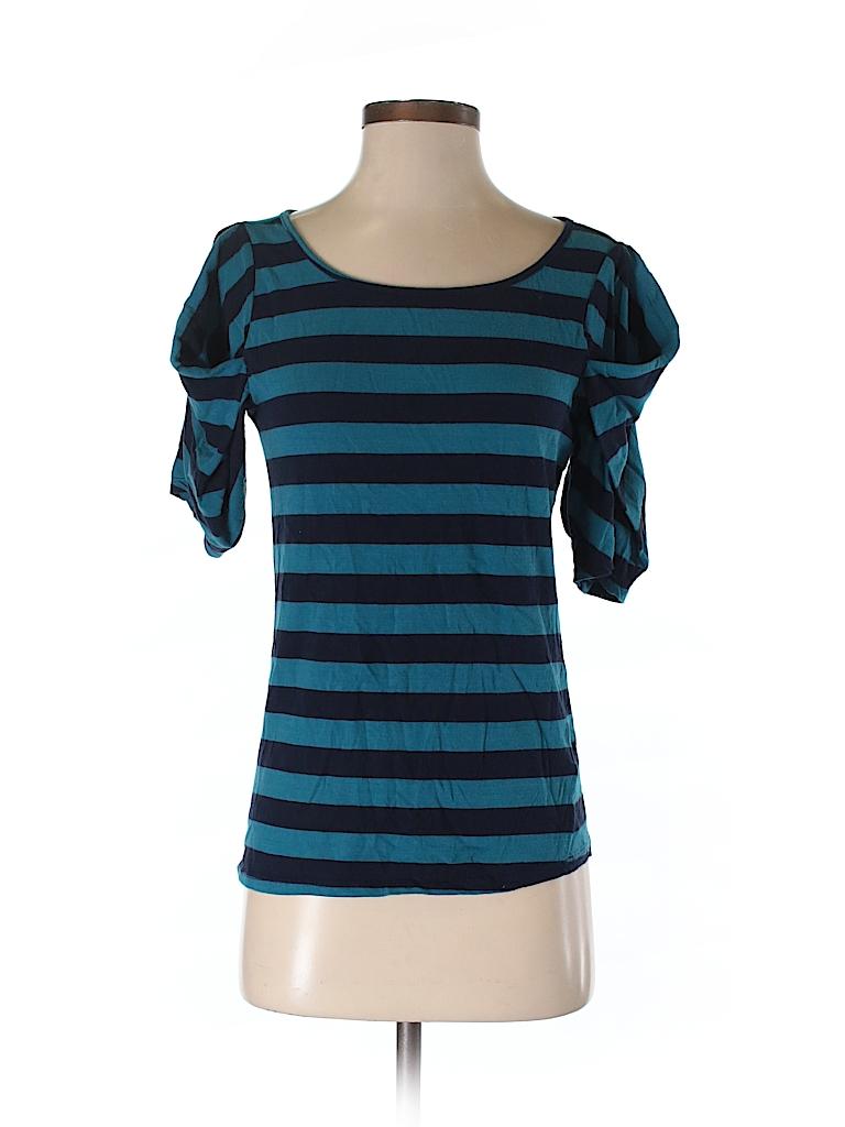 155d62f396e Pilcro and The Letterpress Stripes Blue Short Sleeve Top Size S - 90 ...