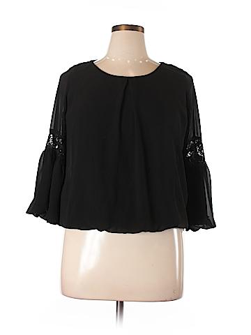 BCX 3/4 Sleeve Blouse Size XL