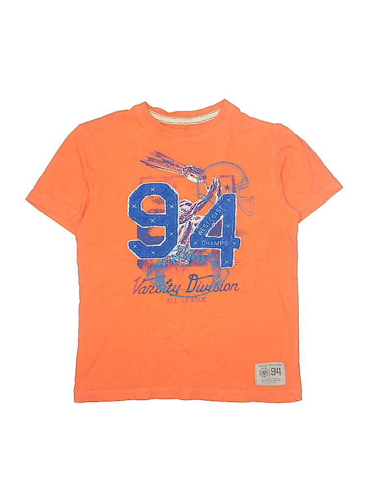 08b5001370fb88 Old Navy 100% Cotton Graphic Orange Short Sleeve T-Shirt Size L ...