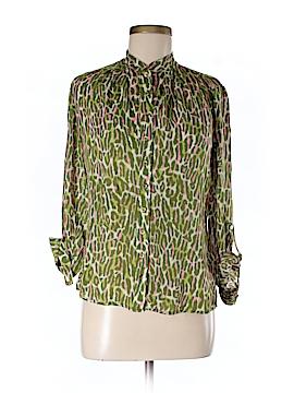 Etcetera Long Sleeve Silk Top Size 0