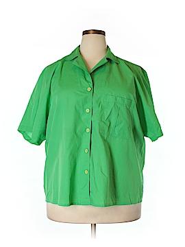 Chaus Short Sleeve Button-Down Shirt Size 18w (Plus)