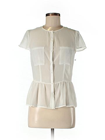 Eric + Lani Short Sleeve Button-Down Shirt Size M
