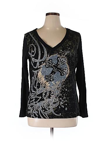 Dots Long Sleeve T-Shirt Size 1X (Plus)