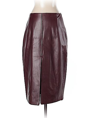 Elie Tahari Leather Skirt Size 4