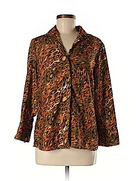 Selene Sport Long Sleeve Button-Down Shirt Size M
