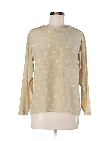 Calvin Klein Long Sleeve Silk Top Size 8