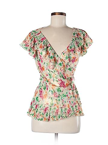 Diane von Furstenberg Short Sleeve Blouse Size 6