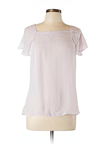 Ann Taylor Short Sleeve Silk Top Size L