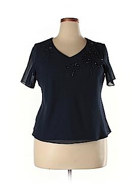 J.B.S. Short Sleeve Blouse Size 16 (Petite)