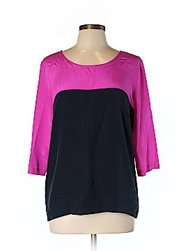 Amanda Uprichard 3/4 Sleeve Silk Top Size L