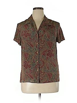 Evan Picone Short Sleeve Silk Top Size 14