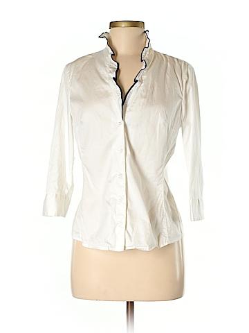 Anne Klein 3/4 Sleeve Button-Down Shirt Size M