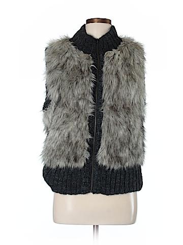 Ann Taylor LOFT Faux Fur Vest Size Med - Lg