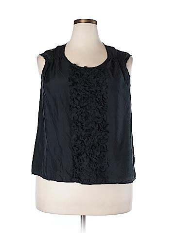 Talbots Sleeveless Silk Top Size 18W Petite (Plus)