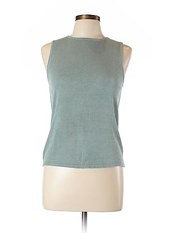 August Silk Sleeveless Silk Top Size L
