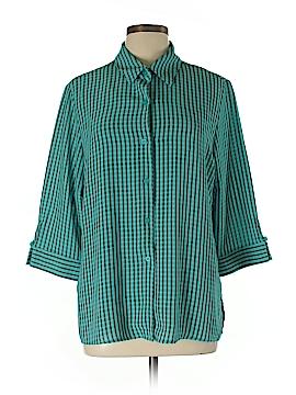 Joanna Short Sleeve Button-Down Shirt Size L