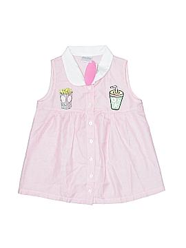 Little Miss Sleeveless Button-Down Shirt Size 6