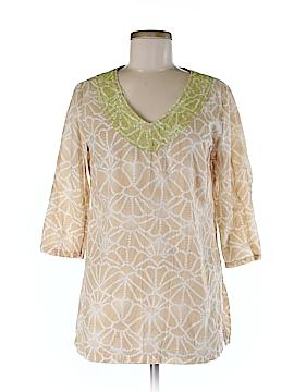 Sigrid Olsen 3/4 Sleeve Blouse Size M