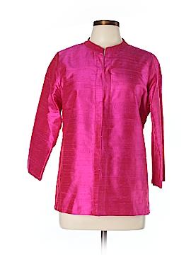 Gretchen Scott Designs 3/4 Sleeve Silk Top Size L