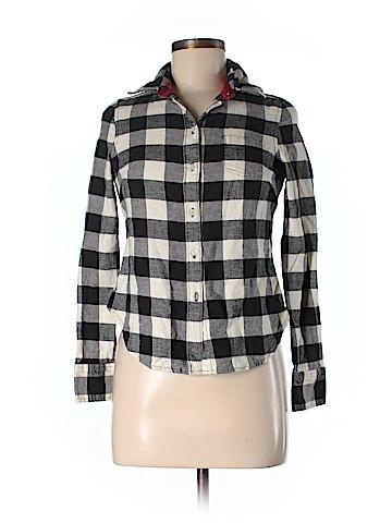 Dear ab by Amanda Bynes Long Sleeve Button-Down Shirt Size S