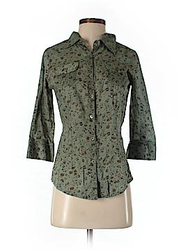 Magazine 3/4 Sleeve Button-Down Shirt Size M