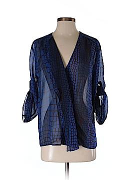 Hy & Dot Long Sleeve Silk Top Size S