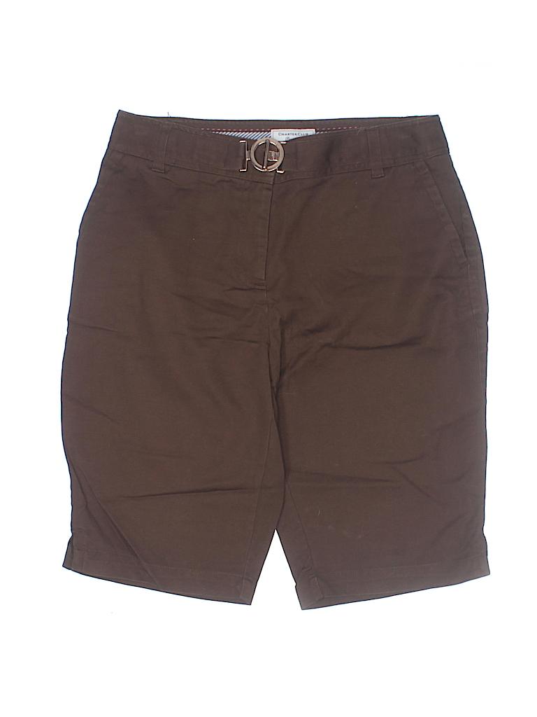 Charter Club Women Khaki Shorts Size 4