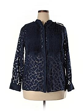 Carmakoma Long Sleeve Blouse Size 12 Plus (XS) (Plus)