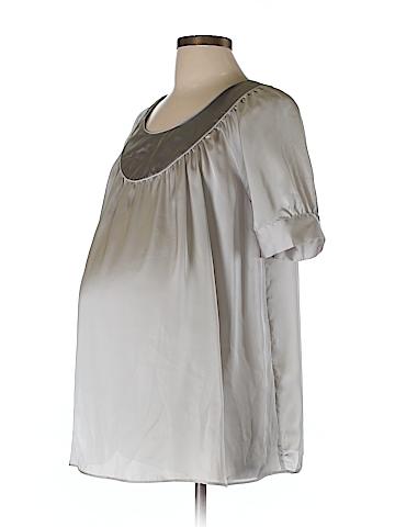 Liz Lange Maternity for Target Short Sleeve Blouse Size L (Maternity)
