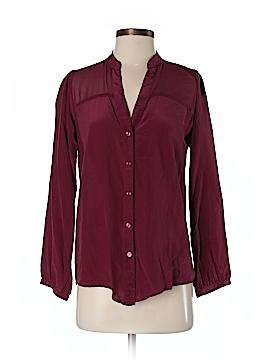 Zoe & Sam Long Sleeve Silk Top Size XS