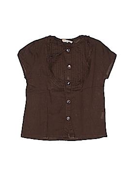 Maan Short Sleeve Button-Down Shirt Size 4