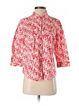Karen Scott 3/4 Sleeve Button-Down Shirt Size M